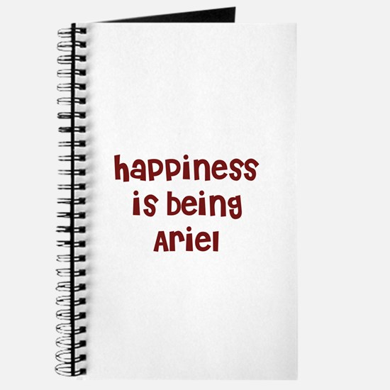 happiness is being Ariel Journal