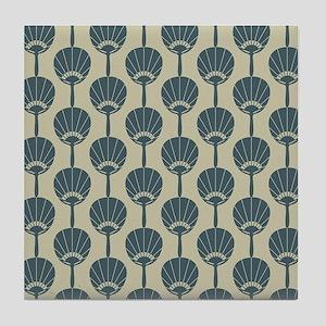 Japanese Fan repeat pattern Tile Coaster