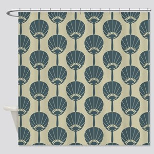 Japanese Fan repeat pattern Shower Curtain