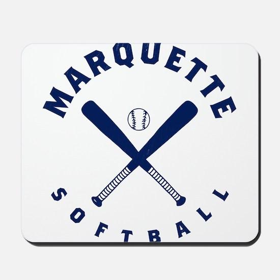 Marquette Golden Eagles Softball Mousepad