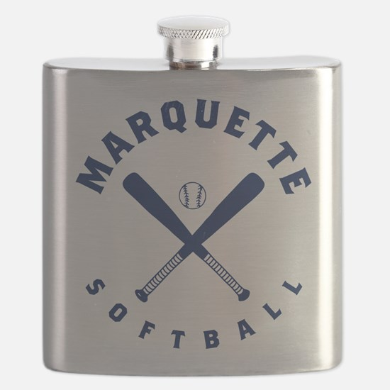 Marquette Golden Eagles Softball Flask