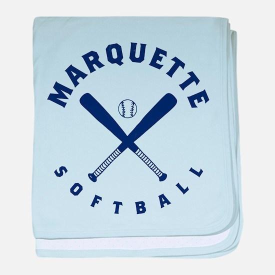Marquette Golden Eagles Softball baby blanket