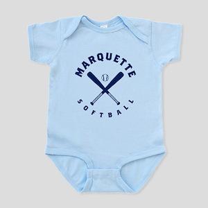 Marquette Golden Eagles Softba Baby Light Bodysuit
