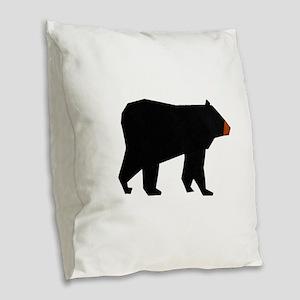BEAR AWARE Burlap Throw Pillow