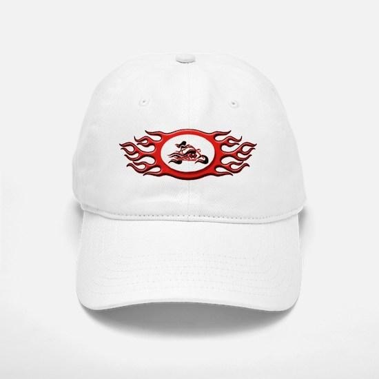 Biker Chick - Red Baseball Baseball Cap