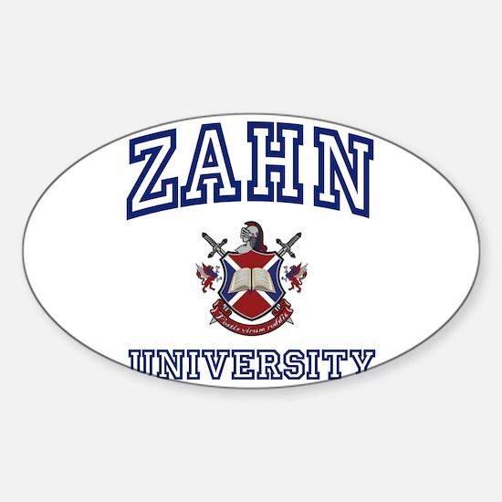 ZAHN University Oval Decal