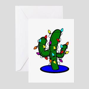 Christmas Tree Cactus Greeting Cards