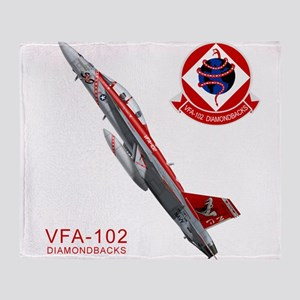 vf102logo10x10_apparel Throw Blanket
