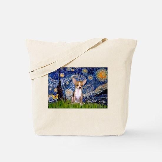 Starry Night Chihuahua Tote Bag