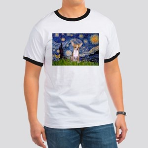 Starry Night Chihuahua Ringer T