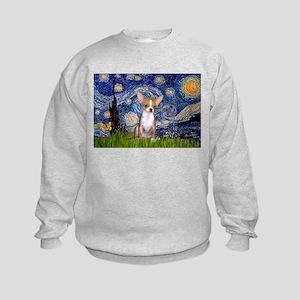 Starry Night Chihuahua Kids Sweatshirt