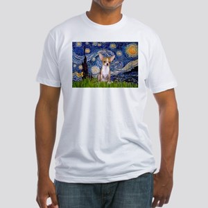Starry Night Chihuahua Fitted T-Shirt