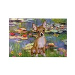 Lilies (2) & Chihuahua Rectangle Magnet