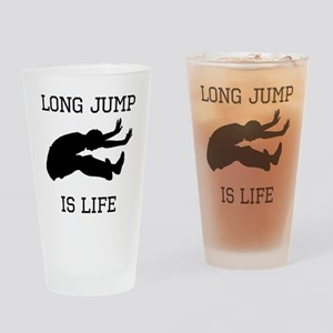 Long Jump Is Life Drinking Glass