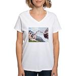 Creation / Chihuahua Women's V-Neck T-Shirt