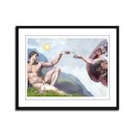 Creation / Chihuahua Framed Panel Print
