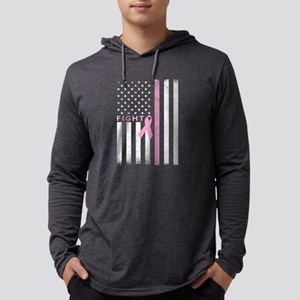 Ribbon Flag Fight Mens Hooded Shirt