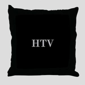 Black and Silver Custom Monogram Throw Pillow