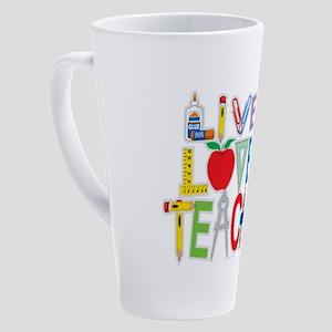 Live-Love-Teach 17 oz Latte Mug