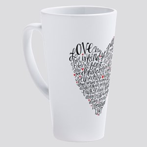 Love is patient Corinthians 13:4-7 17 oz Latte Mug