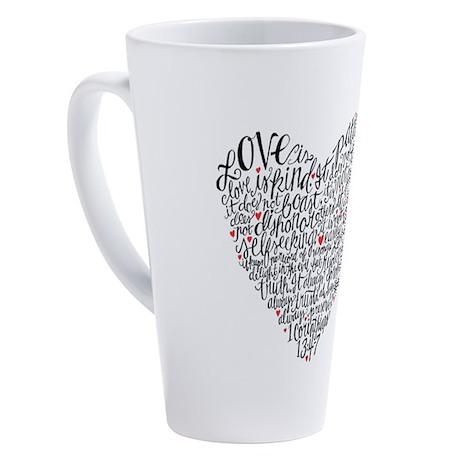 Love is patient Corinthians 13:4-7 17 oz Latte Mug