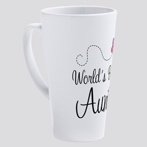 best aunt pink butter 17 oz Latte Mug