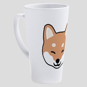 shibaface2 17 oz Latte Mug