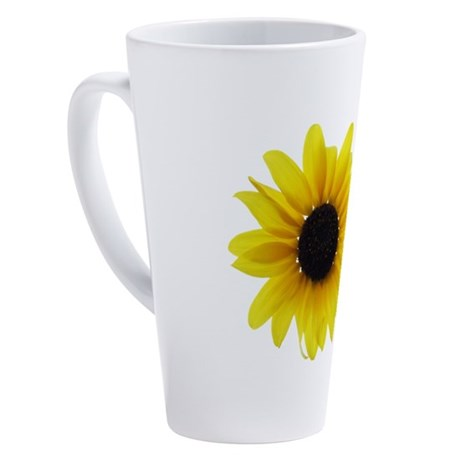 Sunflower 17 oz Latte Mug