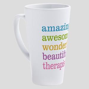 Awesome Therapist 17 oz Latte Mug