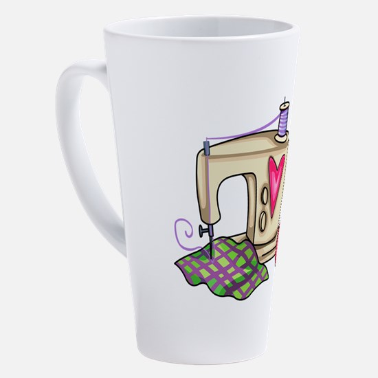 SEWING MACHINE 17 oz Latte Mug