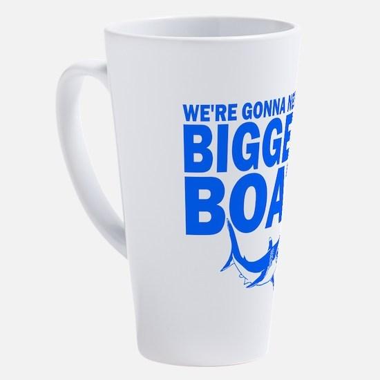BiggerBoatJaws 17 oz Latte Mug