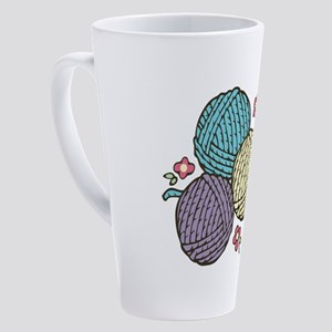 Yarn Trio 17 oz Latte Mug