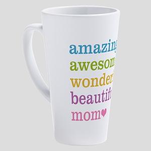 Amazing Awesome Mom 17 oz Latte Mug