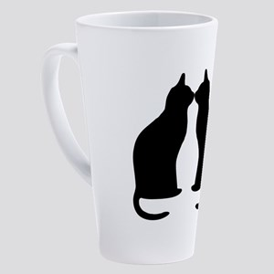 Black cats silhouette 17 oz Latte Mug