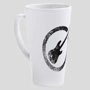 Bass Guitar Ink Stamp 17 oz Latte Mug