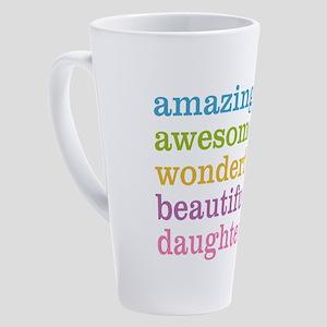 Amazing Daughter 17 oz Latte Mug