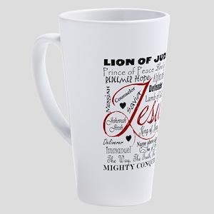 The Name of Jesus 17 oz Latte Mug