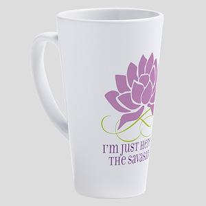 yoga_savasana 17 oz Latte Mug