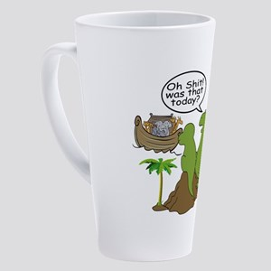 Noah and T-Rex, Funny 17 oz Latte Mug