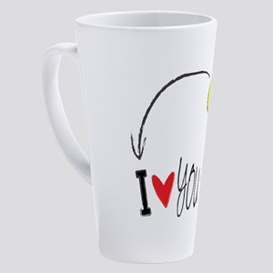 I love you to the moon and back 17 oz Latte Mug
