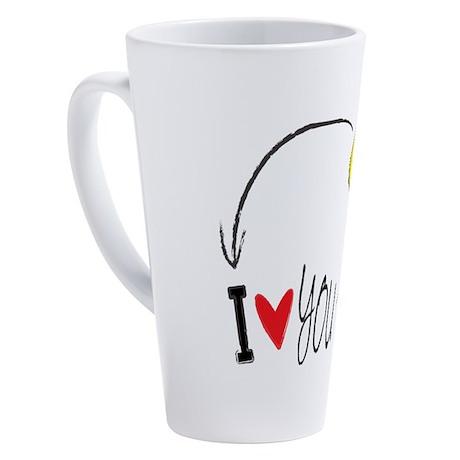 I love you to the moon and back 17 oz Latte Mug