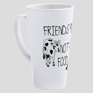 FRIENDS NOT FOOD 17 oz Latte Mug