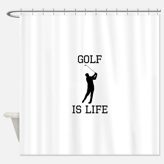 Golf Is Life Shower Curtain