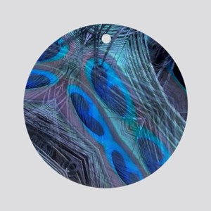 Feather Abstract Round Ornament