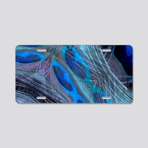 Feather Abstract Aluminum License Plate