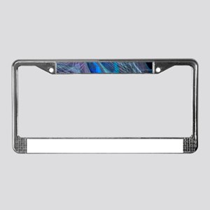 Feather Abstract License Plate Frame