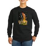 Fairies & Chihuahua Long Sleeve Dark T-Shirt