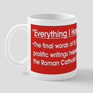 St Thomas Admits His Errors Mug
