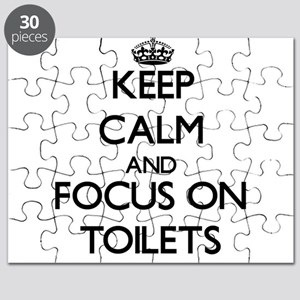 Keep Calm by focusing on Toilets Puzzle
