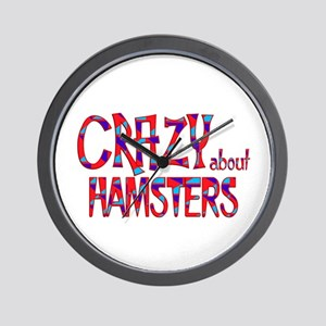 Crazy About Hamsters Wall Clock